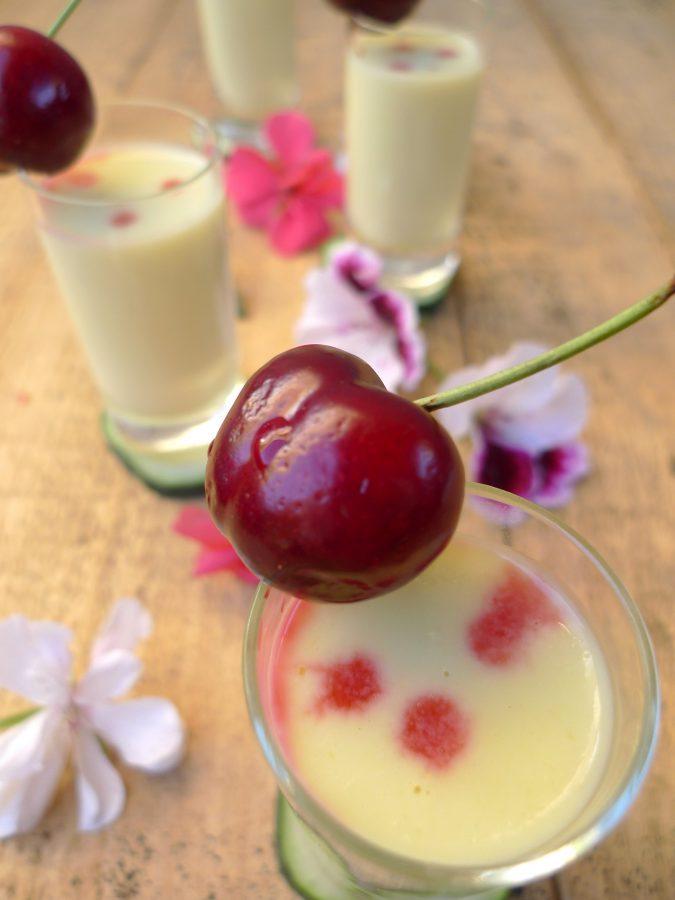 Crema de pepino, yogur y melocotón 6