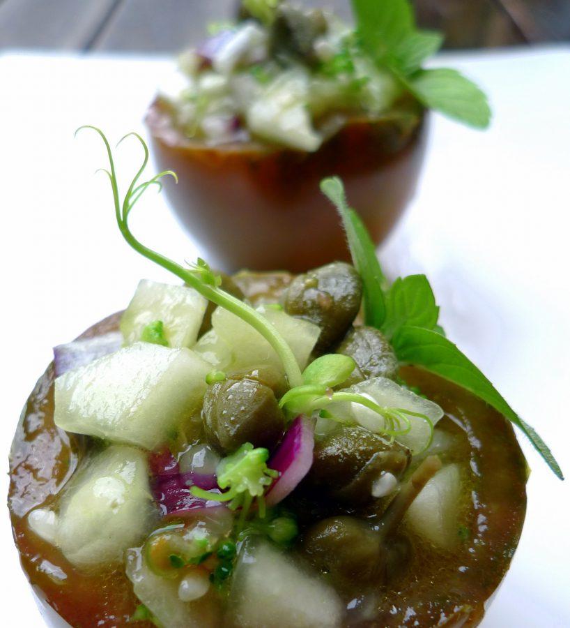 Gazpacho de pepino y kumato 3