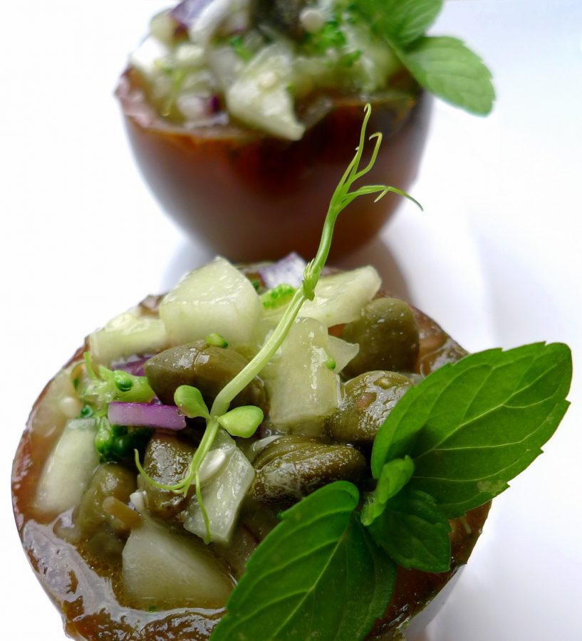 Gazpacho de pepino y kumato 4