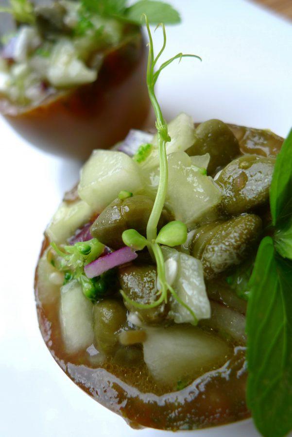 Gazpacho de pepino y kumato 5