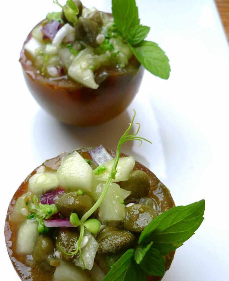 Gazpacho de pepino y kumato 6