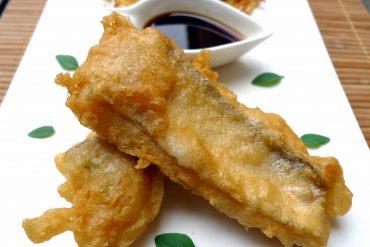 merluza en tempura con salsa Teriyaki