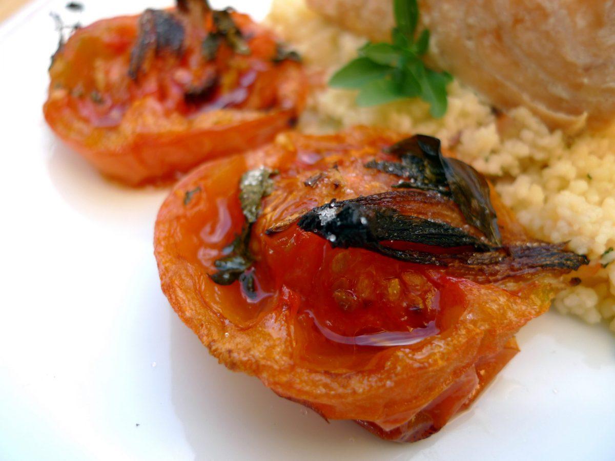 Salmón con cuscús y tomates asados 4