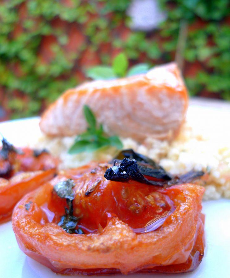 Salmón con cuscús y tomates asados 6