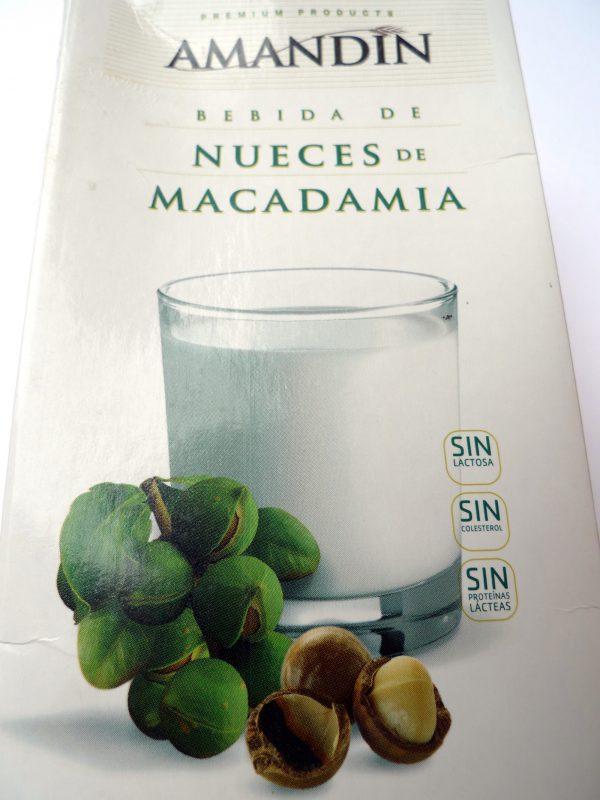 bebida de nueces de macadamia Amandin