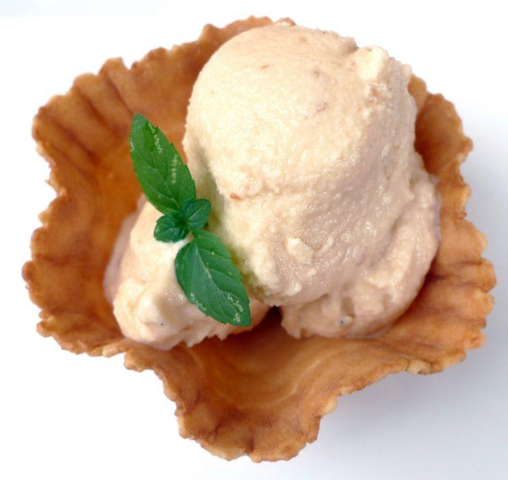 helado de nueces de macadamia