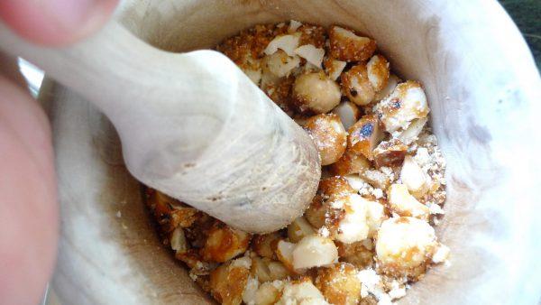 nueces de macadamia caramelizadas