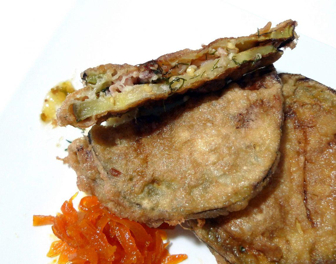 Berenjena rellena de salmón ahumado y queso 3
