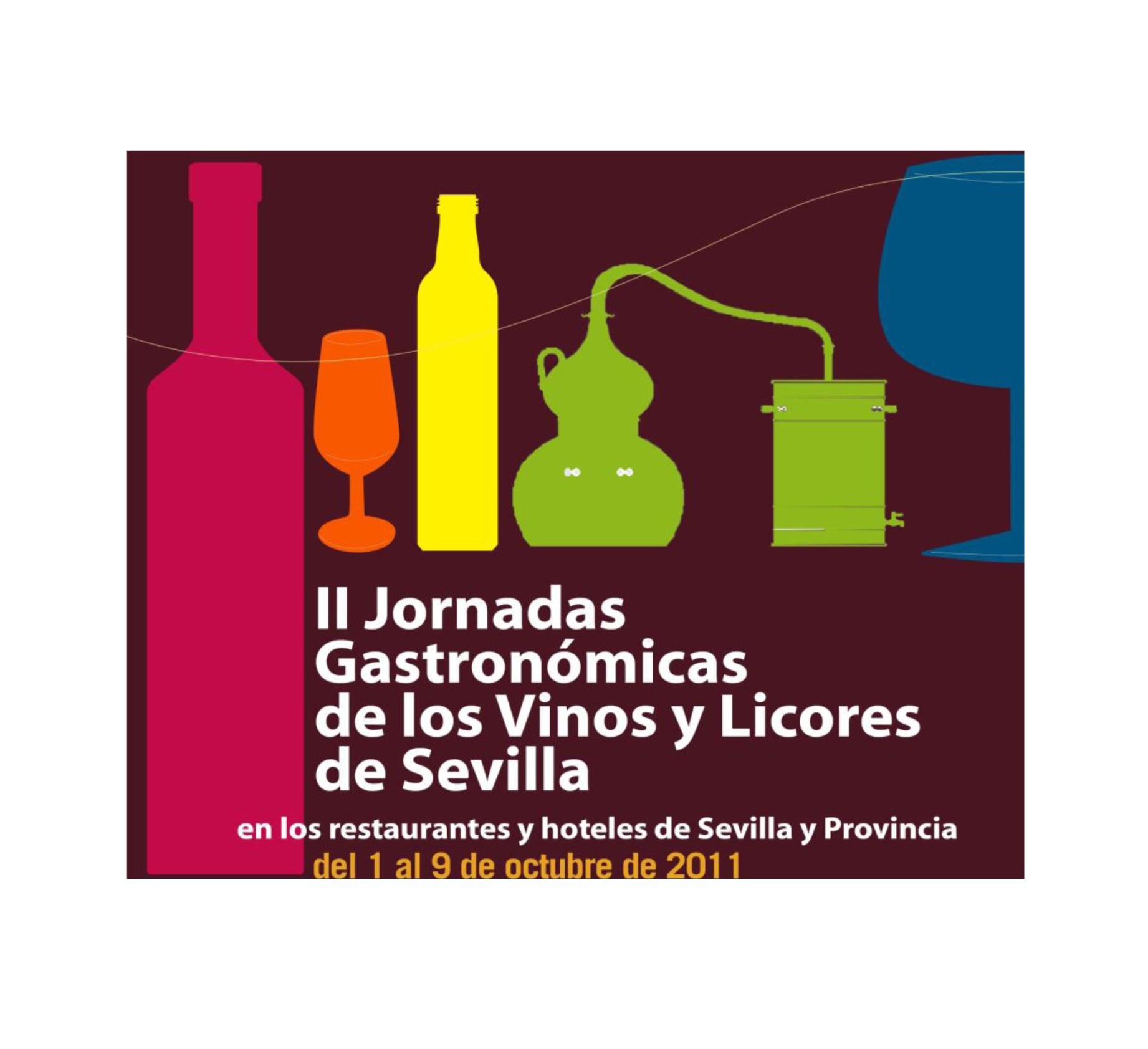 cartel Jornadas Gastronómicas de los Vinos y Licores de Sevilla