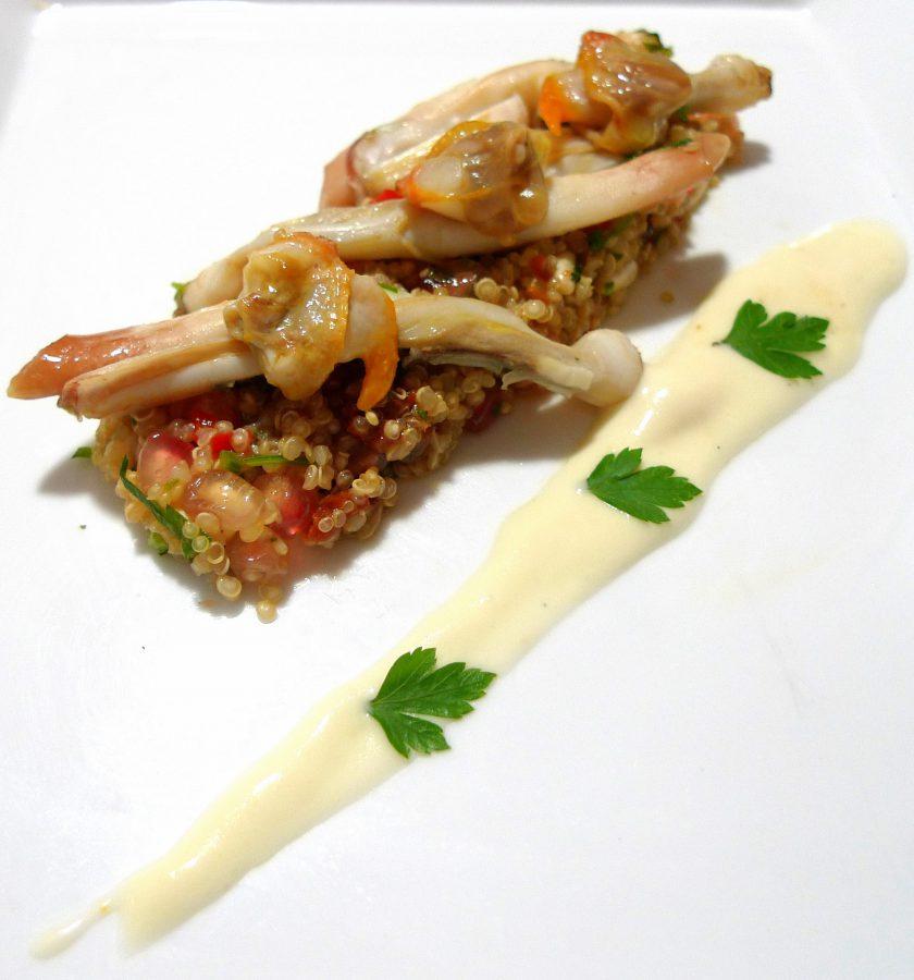 Ensalada de quinoa con granada, navajas y berberechos 3