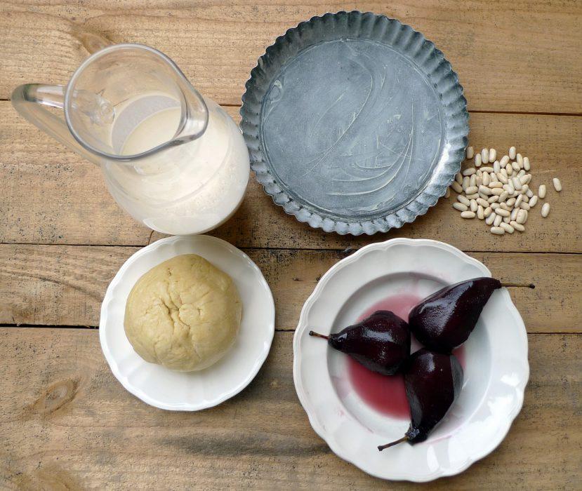Tarta de peras al vino1