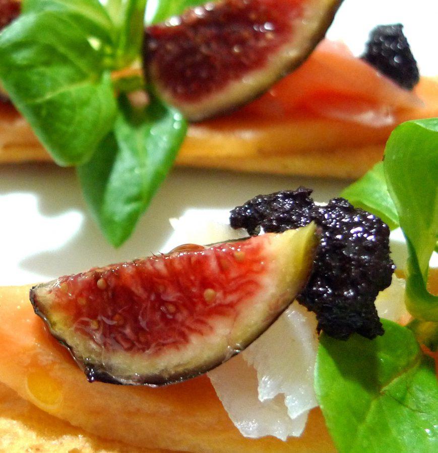 Tosta de papaya, bacalao e higos 4