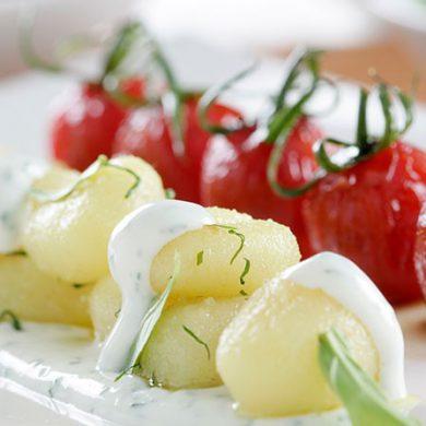 Ñoquis con Philadelphia, albahaca y tomates cherry