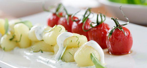 Ñoquis con Philadelphia, albahaca y tomatitos cherry