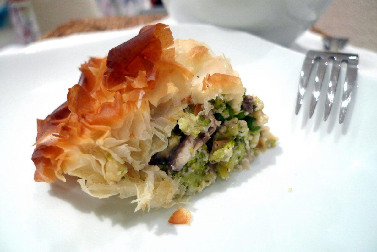 Pastel de verduras en pasta filo un apetitoso entrante - Que hacer con la pasta filo ...