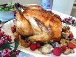 Pollo relleno para Navidad