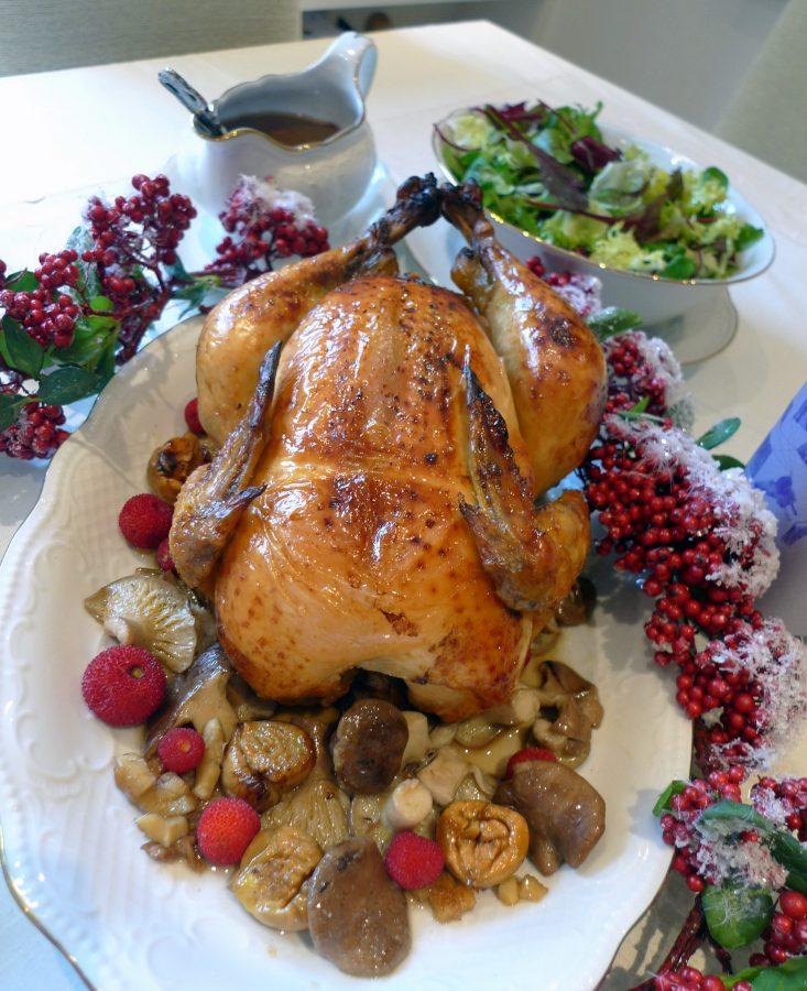 Pollo relleno para navidad la receta perfecta y f cil - Pavo con castanas ...