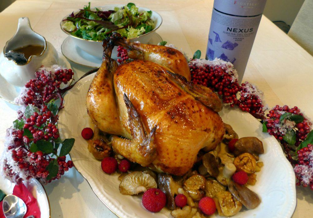Pollo relleno para Navidad 7