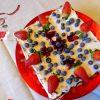 Tarta de chocolate con queso, castañas y frutos rojos 3