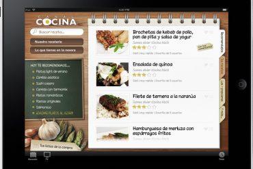 Canal Cocina en el iPad