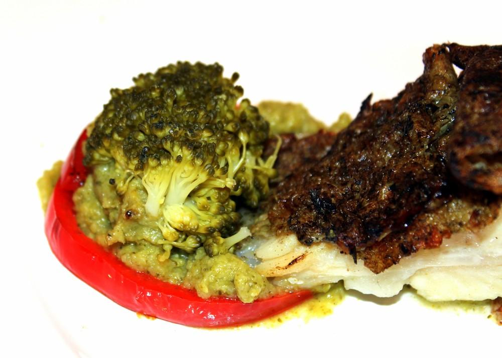 Rodaballo con verduras a la plancha y crema de brócoli 1