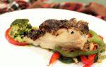 Rodaballo con verduras a la plancha y crema de brócoli