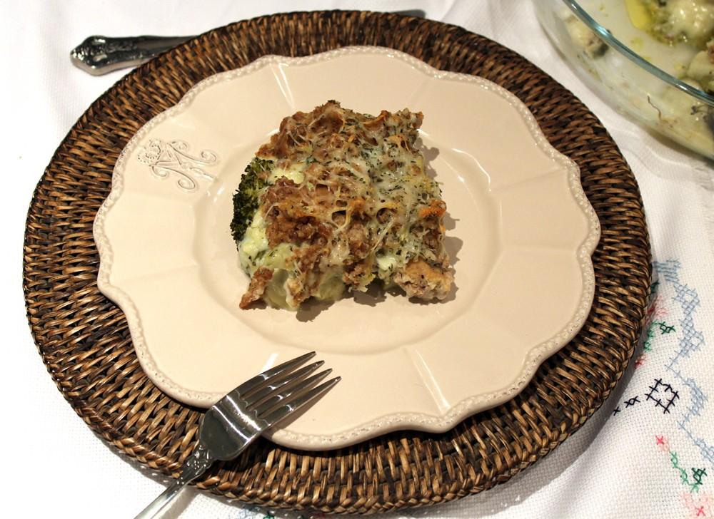 brocoli con albondigas gratinado 4