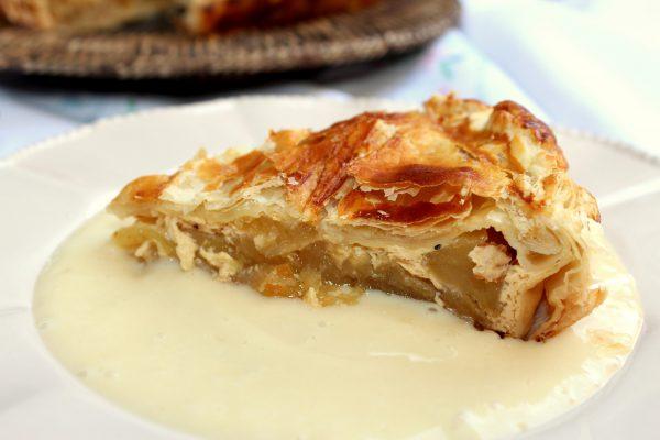 Tarta de manzana americana APPLE PIE con masa de hojaldre