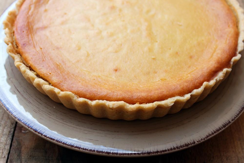 Tarta de almendra, queso y mango 2
