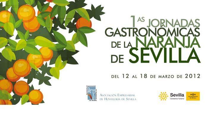 cartel jornadas gastronomicas naranja de sevilla
