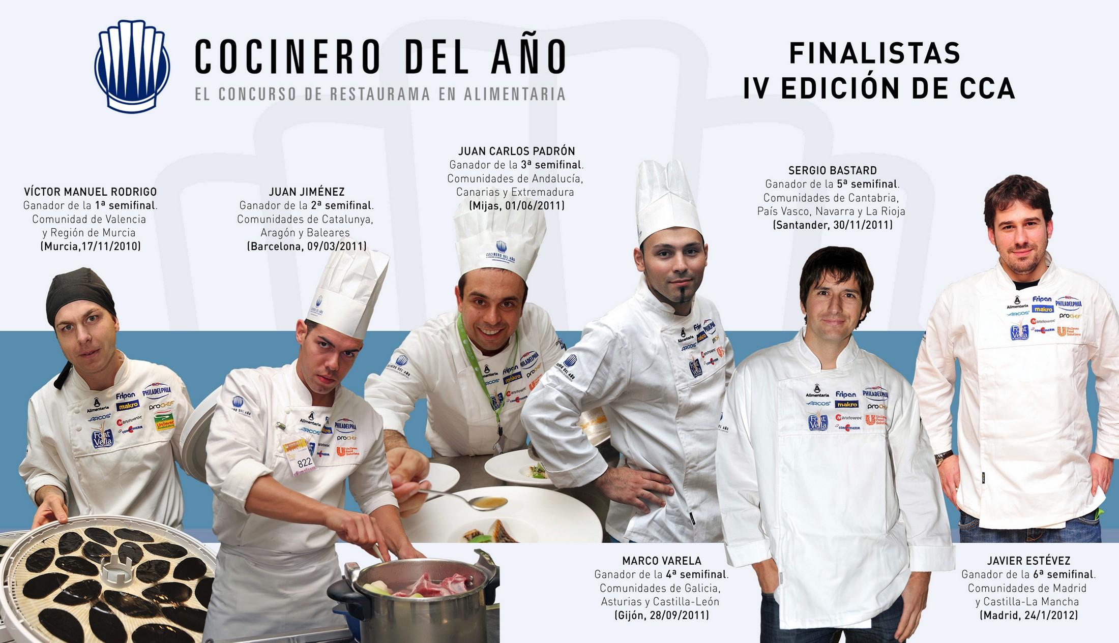 Finalistas concurso Cocinero del Año 2012