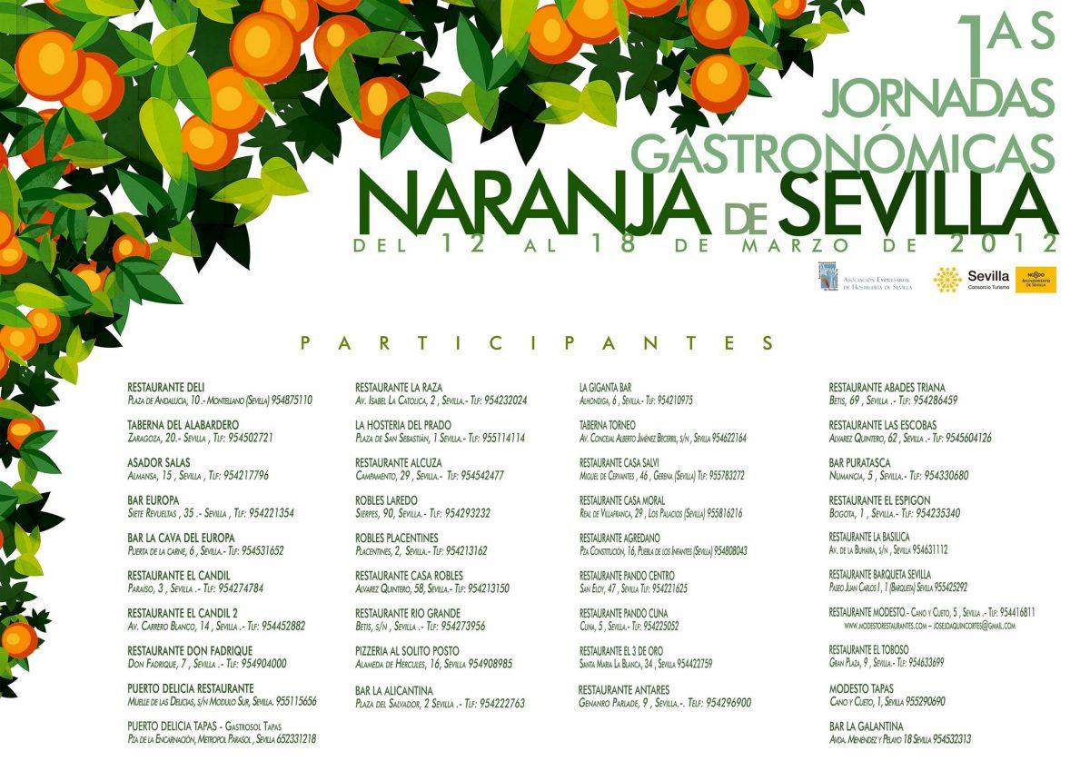 I Jornadas Gastronómicas de la Naranja de Sevilla