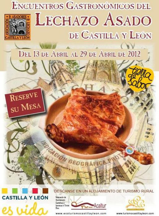 cartel encuentros gastronomicos del lechazo asado de castilla y leon