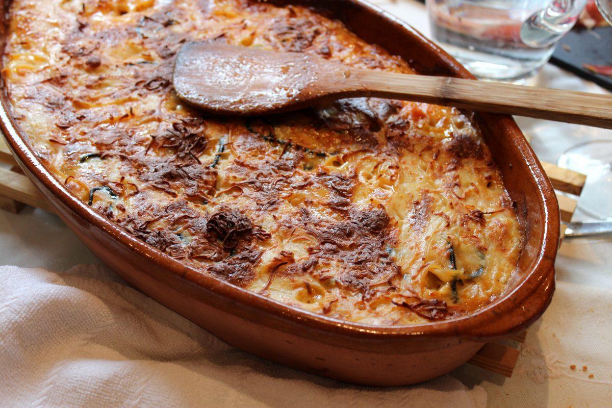 Pastel de espaguetis y carne 2