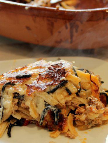 Pastel de espaguetis y carne