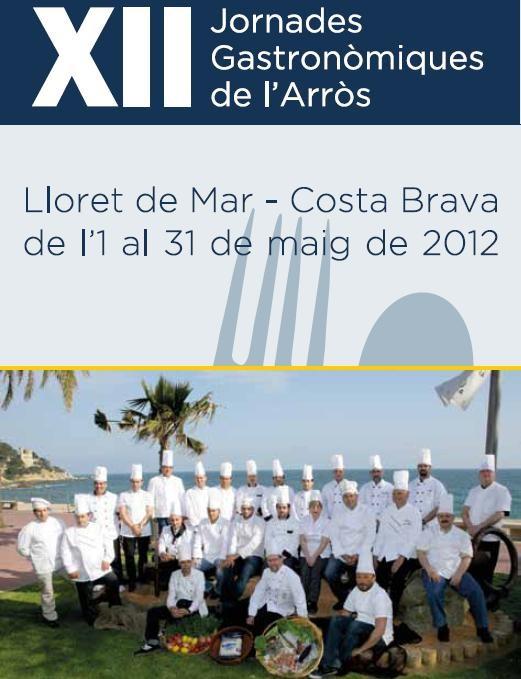 cartel jornadas gastronomicas del arroz de lloret de mar
