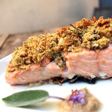 salmon con costra de pan y nueces-4
