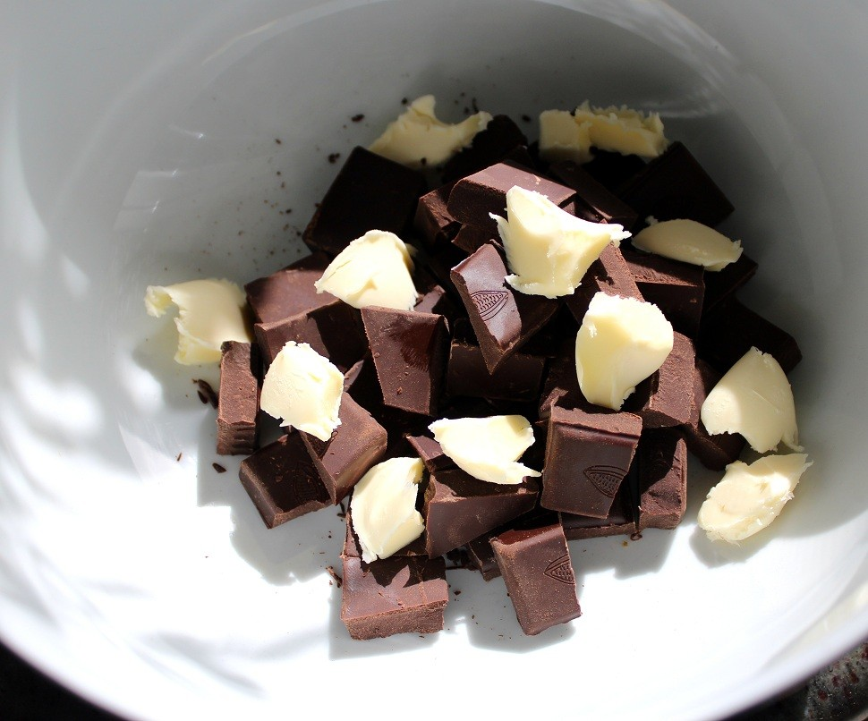 chocolate y mantequilla