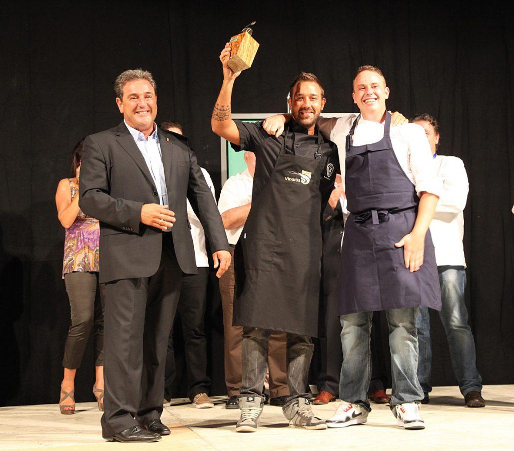 Ignacio Hernández Chef ganador Concurso Nacional Langostino Vinaròs 2012