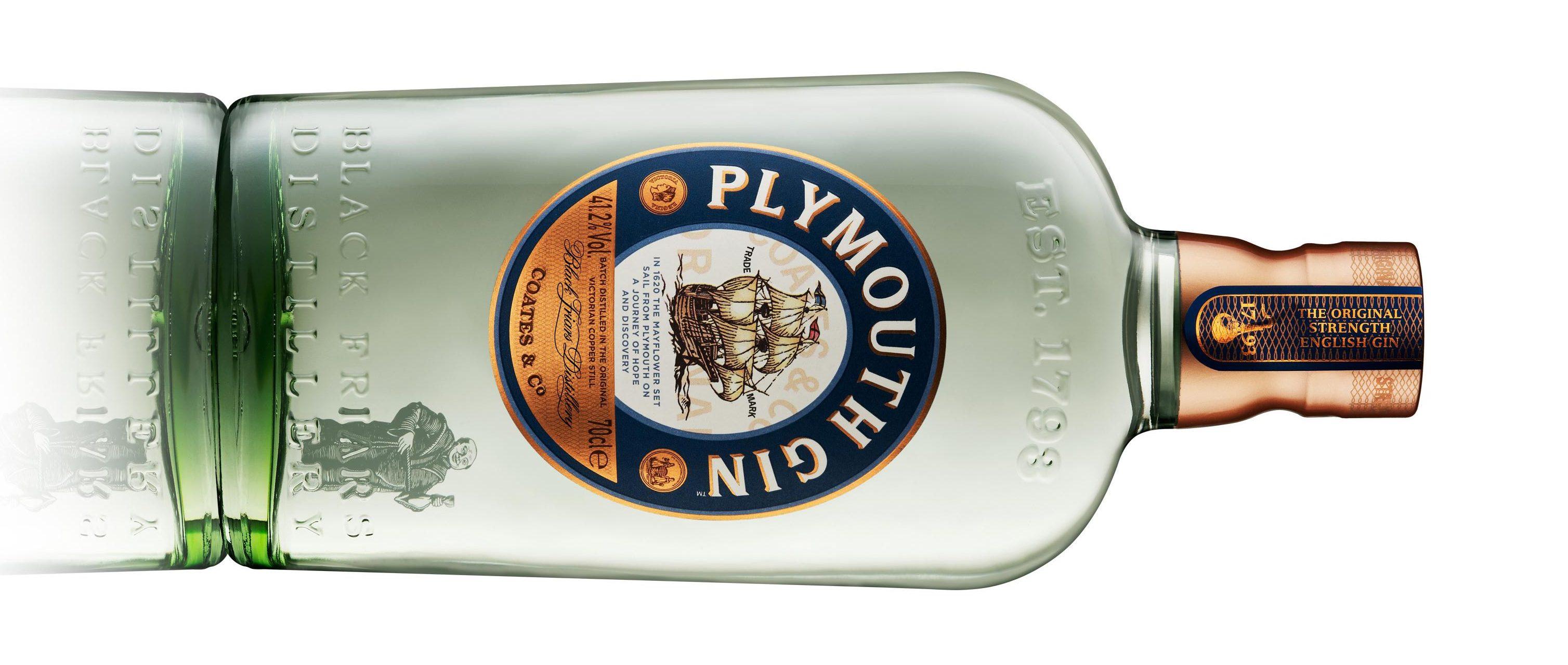 Plymouth Gin botella