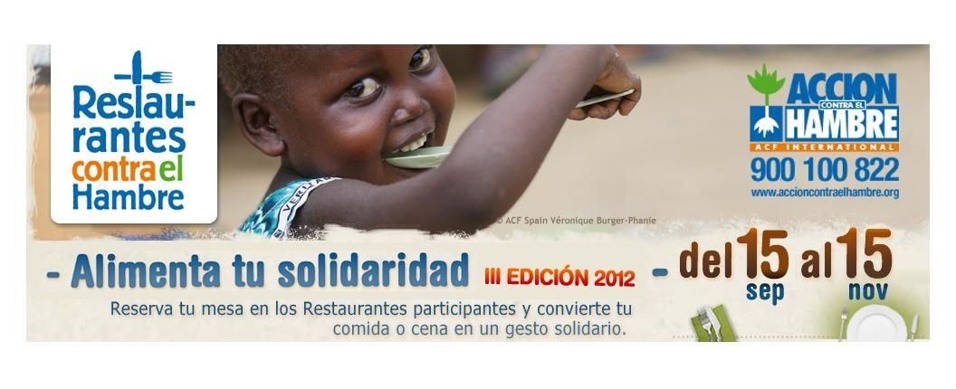 restaurantes contra el hambre 2012 - cartel