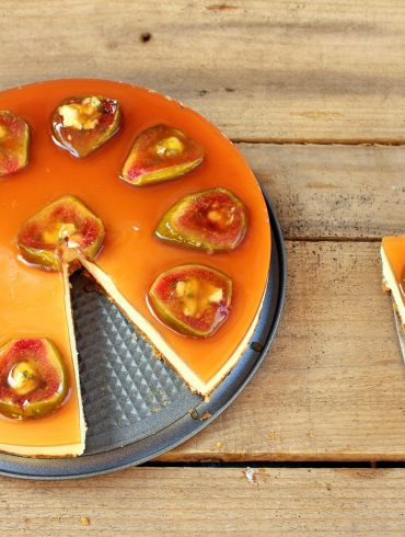 Tarta de queso con brevas