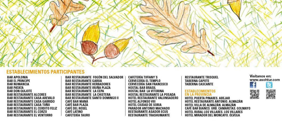 establecimientos participantes V Semana de la tapa micologica de soria
