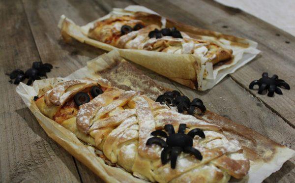 Momias de Pizza Calzone para Hallowen