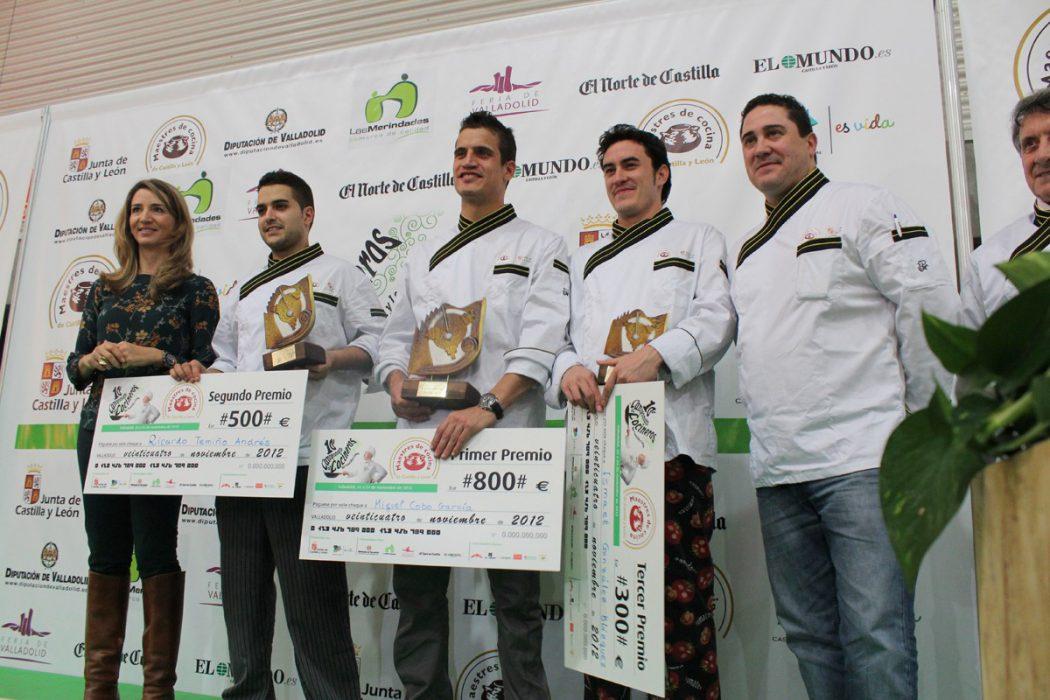 Ganadores del Campeonato de Cocineros de Castilla y León 2012