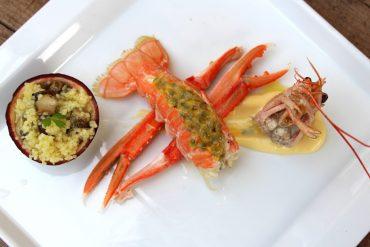 Receta Cigalas con maracuyá y cuscus de Cañaillas para la cena de nochevieja