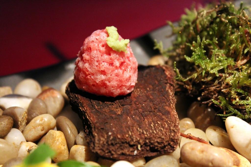 Frambuesa con wasabi