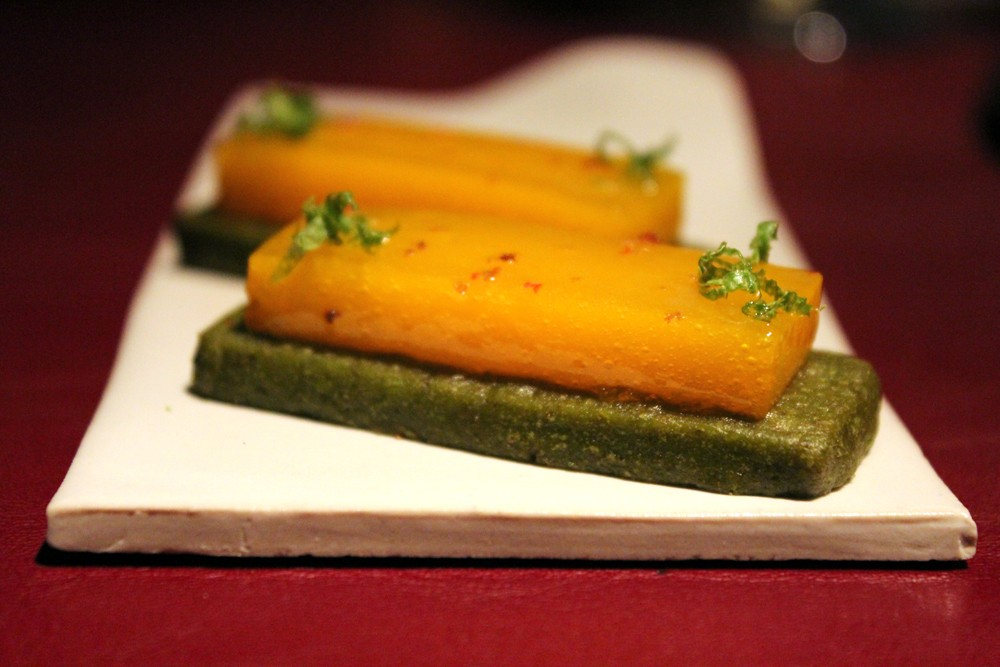 Sable de te verde y mandarina