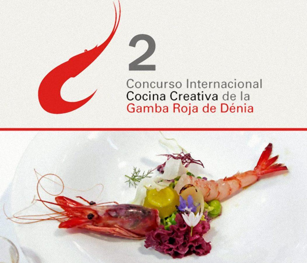Cartel Concurso Internacional Cocina creativa de la gamba roja de Dénia 2013