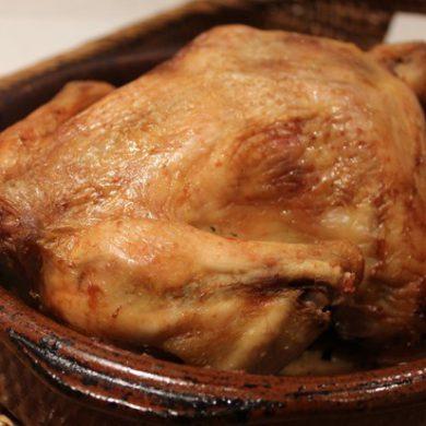 Un delicioso pollo asado al horno